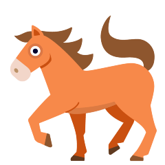 Horse on Skype Emoticons 1.2