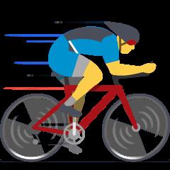 Man Biking on Skype Emoticons 1.2