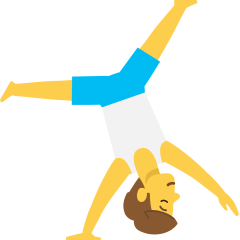 Man Cartwheeling on Skype Emoticons 1.2