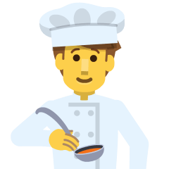 Man Cook on Skype Emoticons 1.2