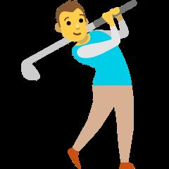Man Golfing on Skype Emoticons 1.2