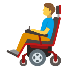 Man in Motorized Wheelchair on Skype Emoticons 1.2