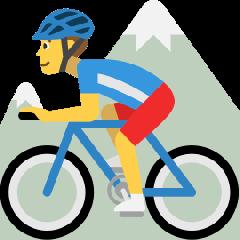 Man Mountain Biking on Skype Emoticons 1.2
