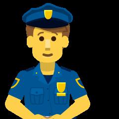 Man Police Officer on Skype Emoticons 1.2