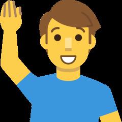 Man Raising Hand on Skype Emoticons 1.2