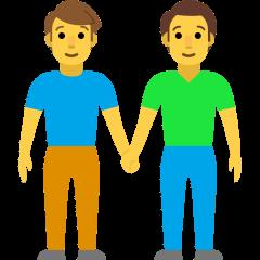 Men Holding Hands on Skype Emoticons 1.2