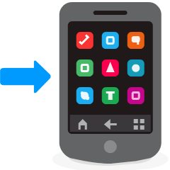 Mobile Phone with Arrow on Skype Emoticons 1.2