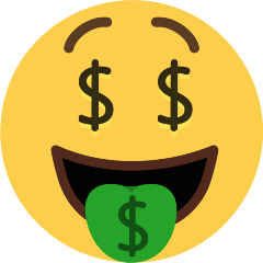 Money-Mouth Face on Skype Emoticons 1.2