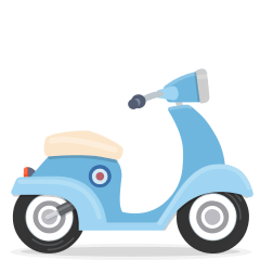 Motor Scooter on Skype Emoticons 1.2