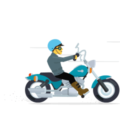 Motorcycle on Skype Emoticons 1.2