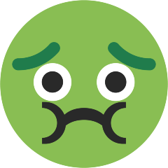 Nauseated Face on Skype Emoticons 1.2