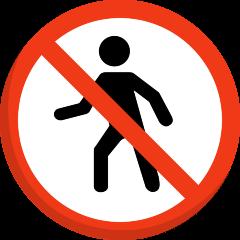 No Pedestrians on Skype Emoticons 1.2