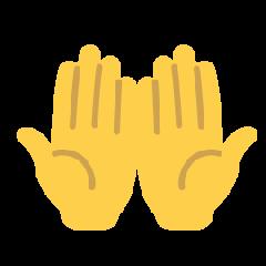 Palms Up Together on Skype Emoticons 1.2