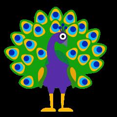 Peacock on Skype Emoticons 1.2