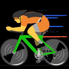 Person Biking on Skype Emoticons 1.2