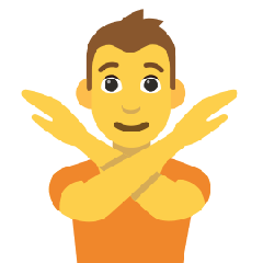 Person Gesturing No on Skype Emoticons 1.2
