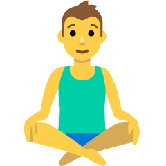 Person in Lotus Position on Skype Emoticons 1.2