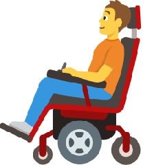 Person in Motorized Wheelchair on Skype Emoticons 1.2
