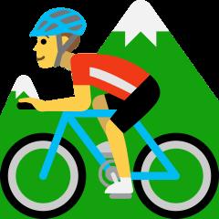 Person Mountain Biking on Skype Emoticons 1.2