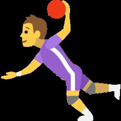 Person Playing Handball on Skype Emoticons 1.2