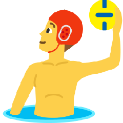 Man Playing Water Polo on Skype Emoticons 1.2