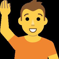 Person Raising Hand on Skype Emoticons 1.2