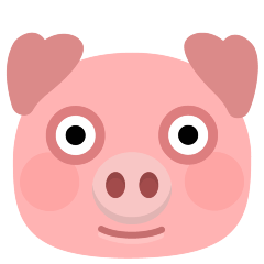 Pig Face on Skype Emoticons 1.2
