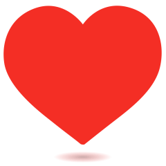 Red Heart on Skype Emoticons 1.2