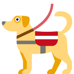 Service Dog on Skype Emoticons 1.2