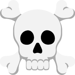 Skull and Crossbones on Skype Emoticons 1.2