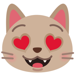 Smiling Cat with Heart-Eyes on Skype Emoticons 1.2