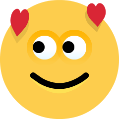 Smiling Face with Hearts on Skype Emoticons 1.2