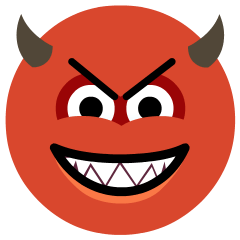 Smiling Face with Horns on Skype Emoticons 1.2