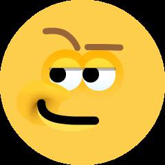 Smirking Face on Skype Emoticons 1.2