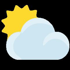 Sun Behind Cloud on Skype Emoticons 1.2
