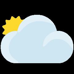 Sun Behind Large Cloud on Skype Emoticons 1.2