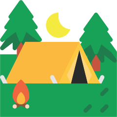 Tent on Skype Emoticons 1.2