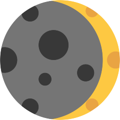 Waxing Crescent Moon on Skype Emoticons 1.2