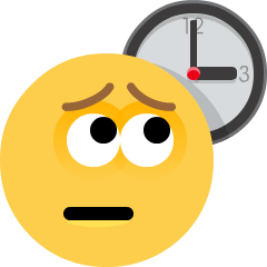 Weary Face on Skype Emoticons 1.2
