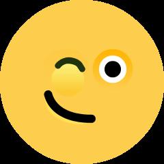 Winking Face on Skype Emoticons 1.2
