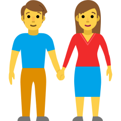 Woman and Man Holding Hands on Skype Emoticons 1.2