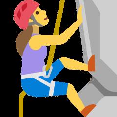 Woman Climbing on Skype Emoticons 1.2