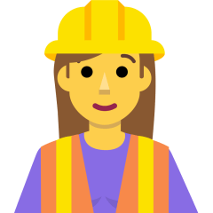 Woman Construction Worker on Skype Emoticons 1.2