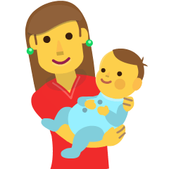 Woman Feeding Baby on Skype Emoticons 1.2