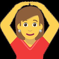 Woman Gesturing OK on Skype Emoticons 1.2