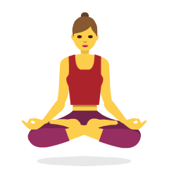 Woman in Lotus Position on Skype Emoticons 1.2