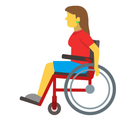 Woman in Manual Wheelchair on Skype Emoticons 1.2