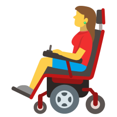 Woman in Motorized Wheelchair on Skype Emoticons 1.2