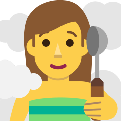 Woman in Steamy Room on Skype Emoticons 1.2