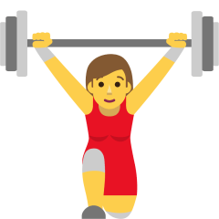 Woman Lifting Weights on Skype Emoticons 1.2